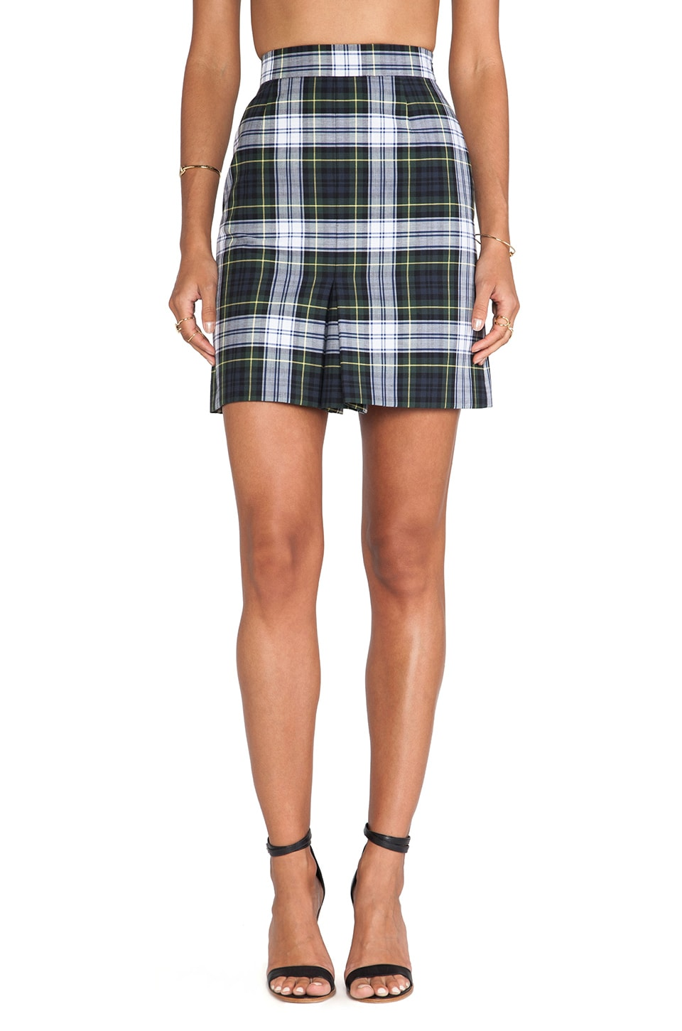 McQ Alexander McQueen Mini Pleat Skirt in Rupert