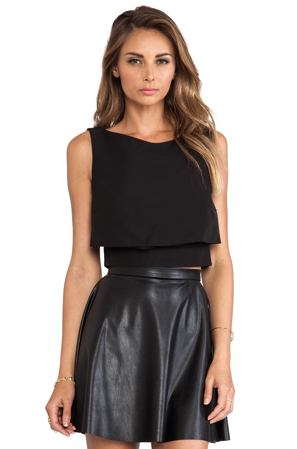 McQ Alexander McQueen Party Top in Velvet Black