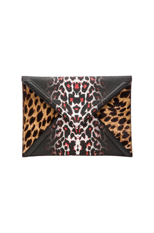 McQ Alexander McQueen Envelope Clutch in White Leopard