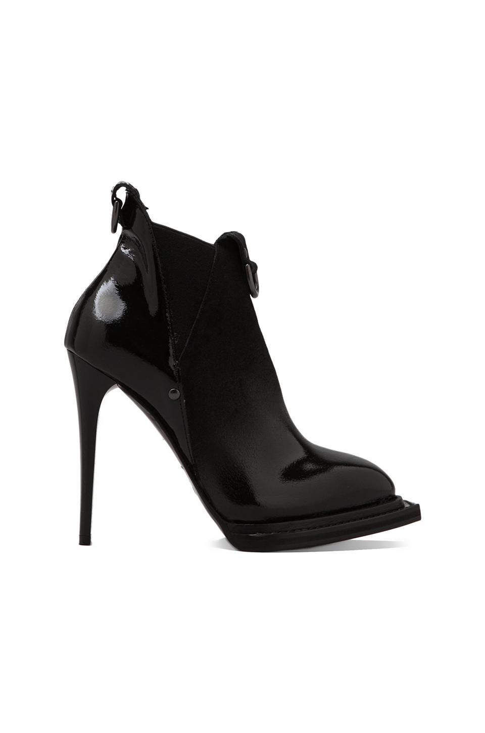McQ Alexander McQueen Slash Elastic Bootie in Black