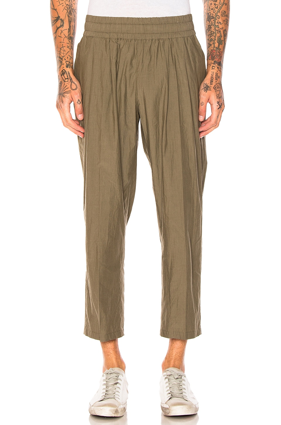 Maiden Noir Cropped Trousers in Olive