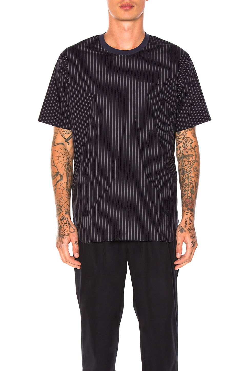 Stripe Crew Shirt by Maiden Noir