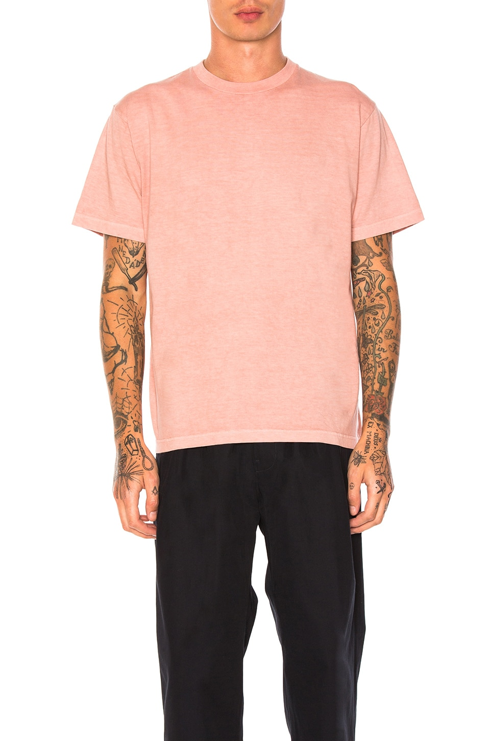 Natural Dyed Block Tee by Maiden Noir