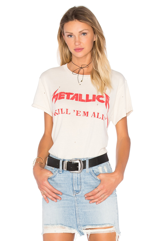 Madeworn Metallica Kill 'Em All Tee in Dirty White