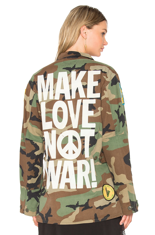 Make Love Not War Jacket by Madeworn