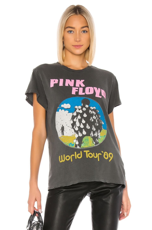 Madeworn Pink Floyd World Tour '89 Tee in Black Pigment
