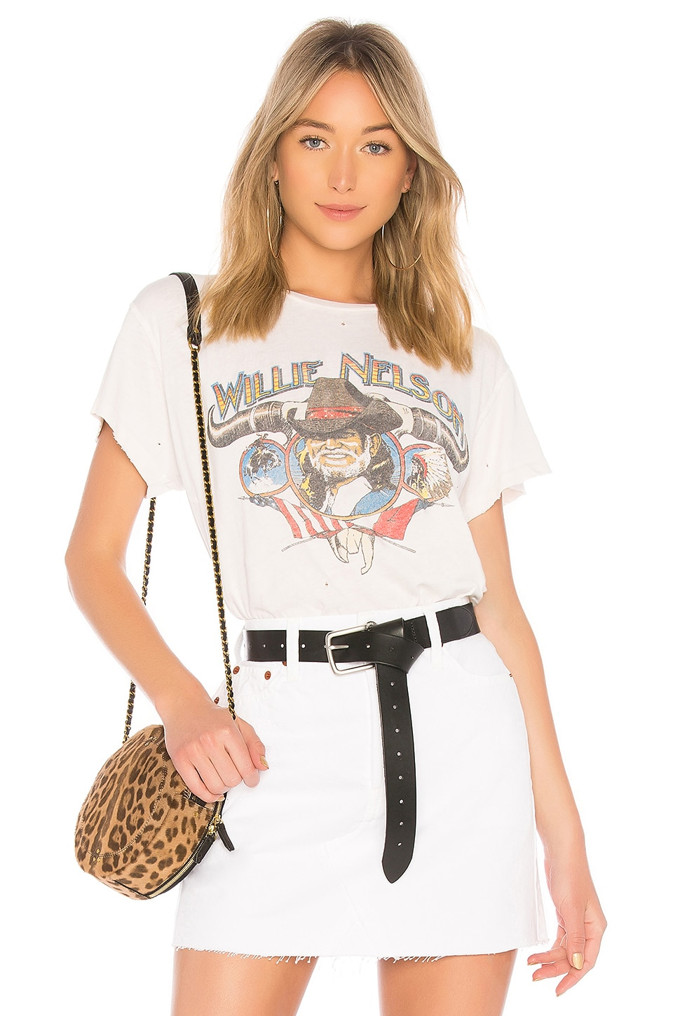 Madeworn Willie Nelson Tee in Dirty White