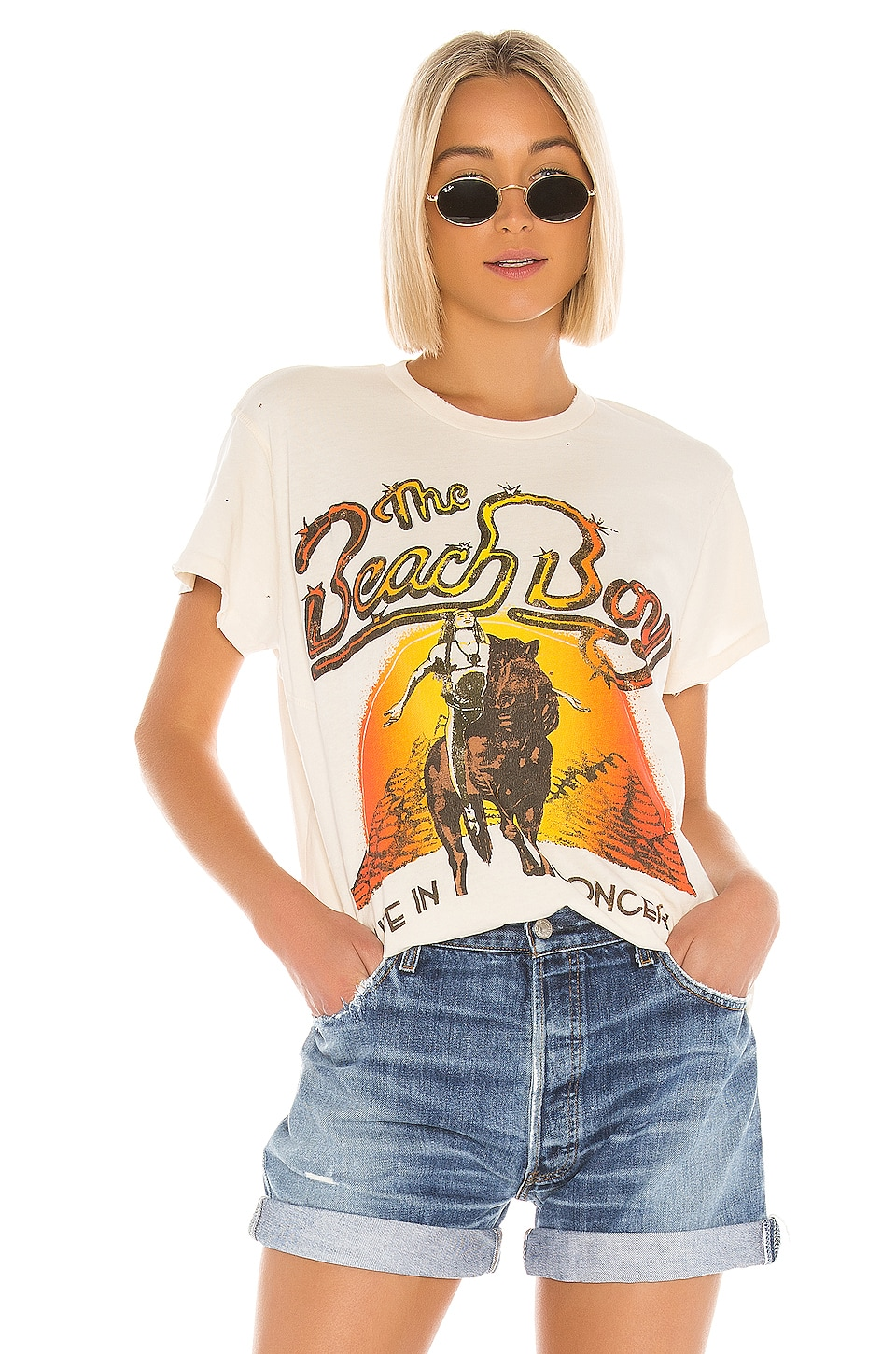 Madeworn The Beach Boys Live in Concert Tee in Dirty White