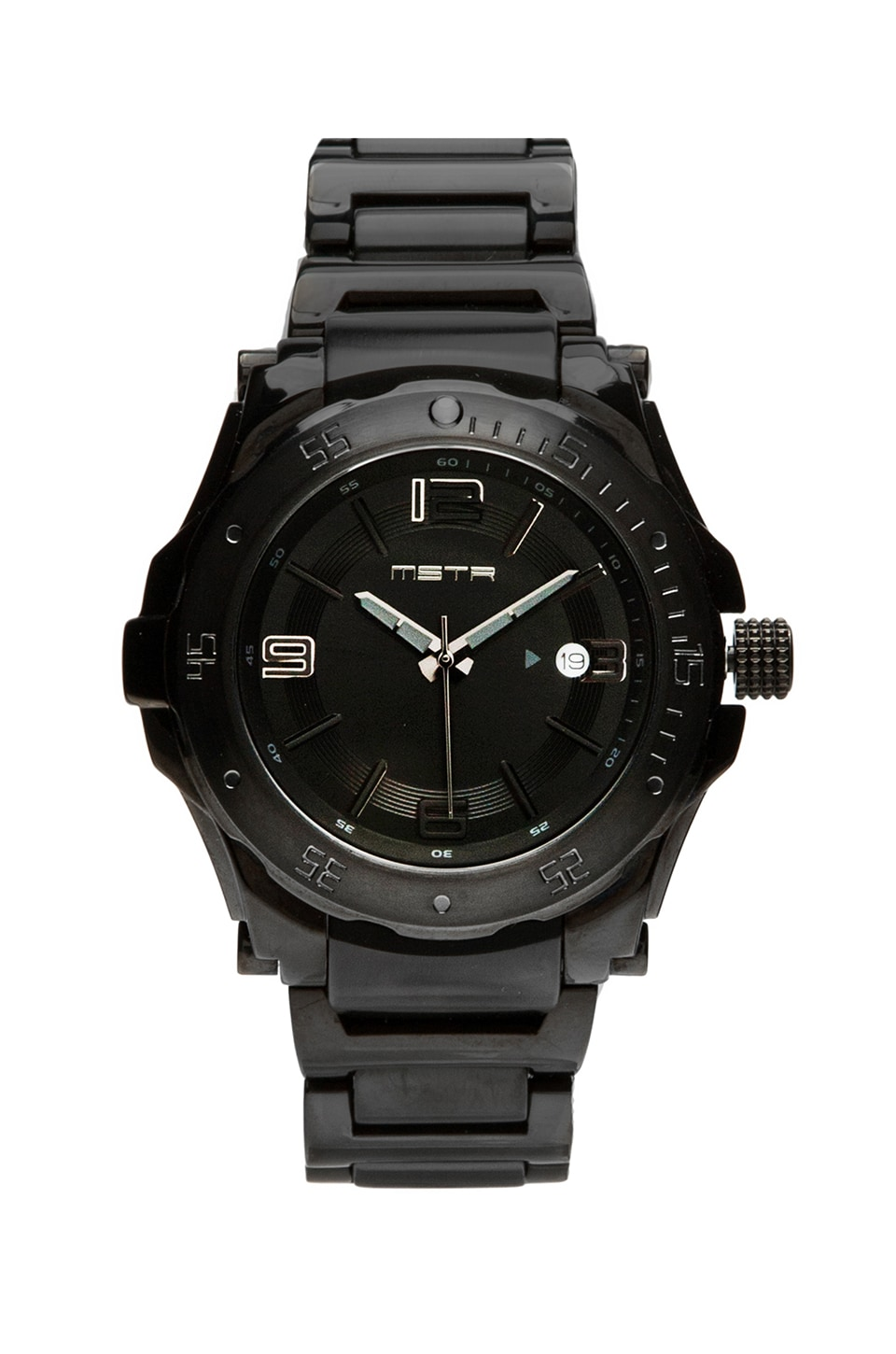 Meister Icon Stainless Steel Band in Black/Black