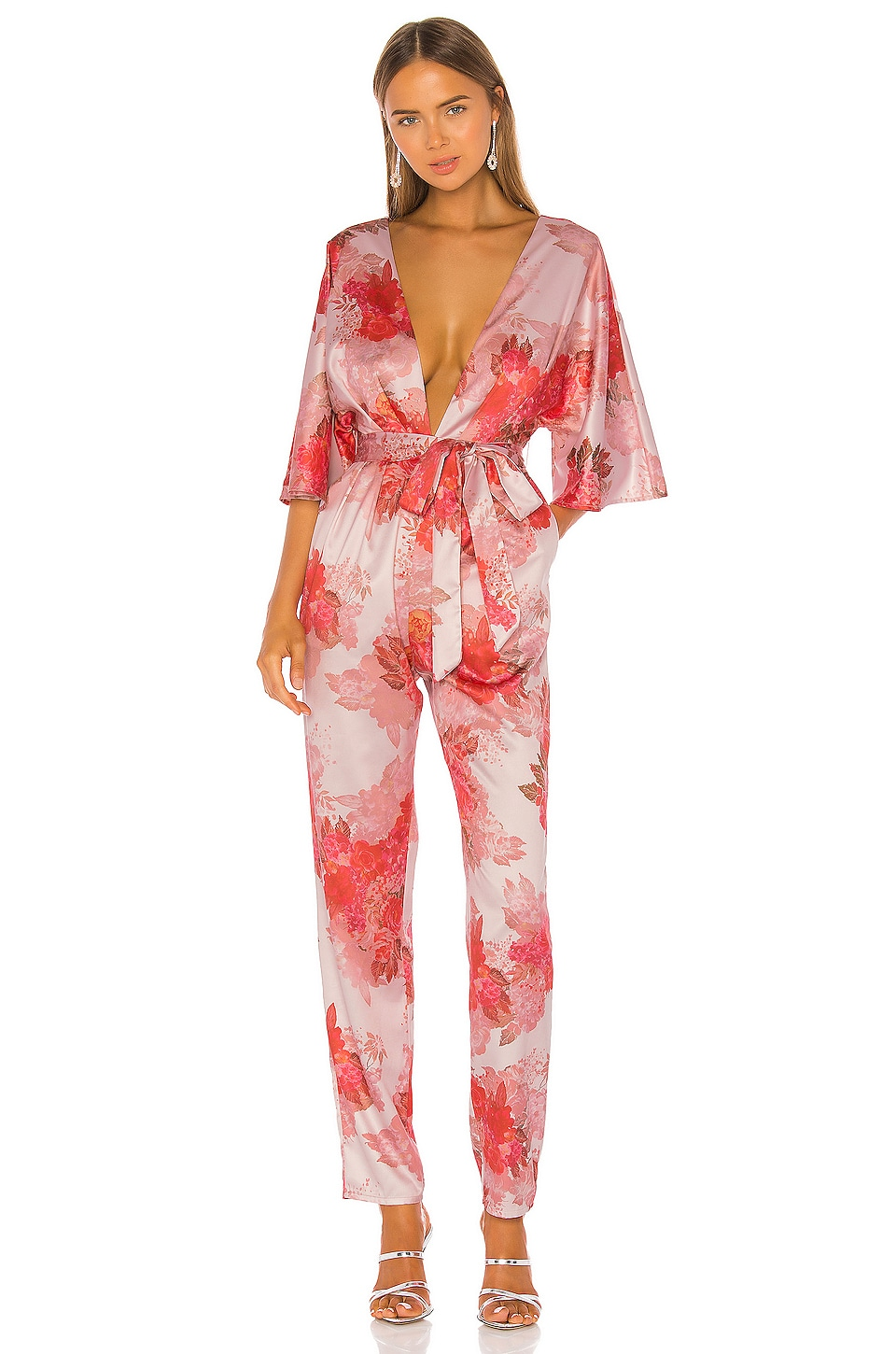 Michael Costello x REVOLVE Fallene Jumpsuit in Rose Floral