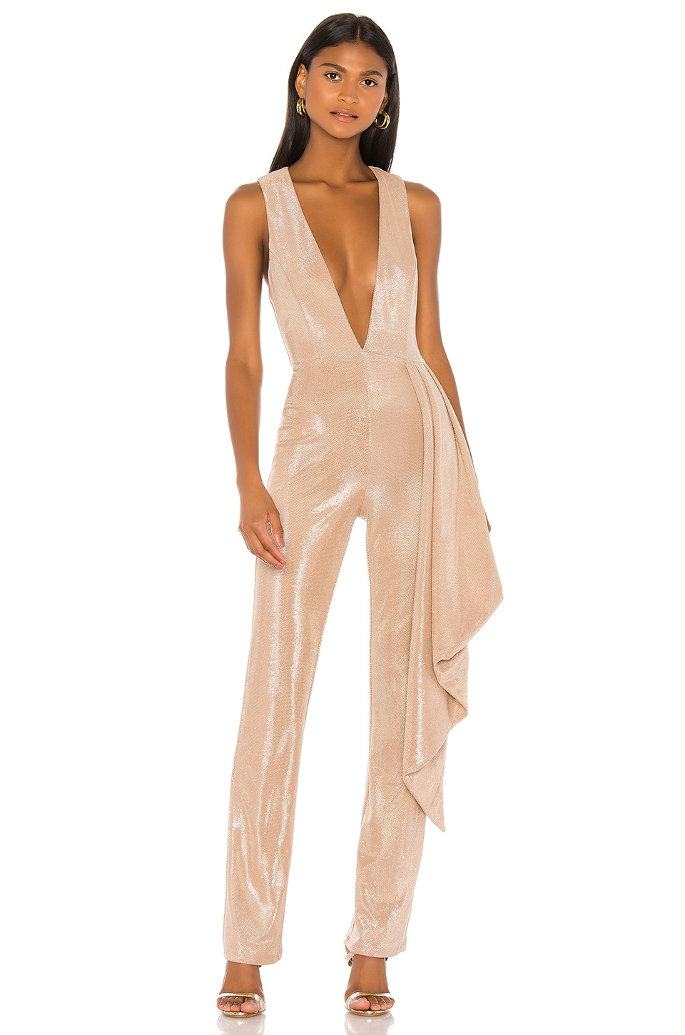 Michael Costello x REVOLVE Lena Jumpsuit in Light Pink