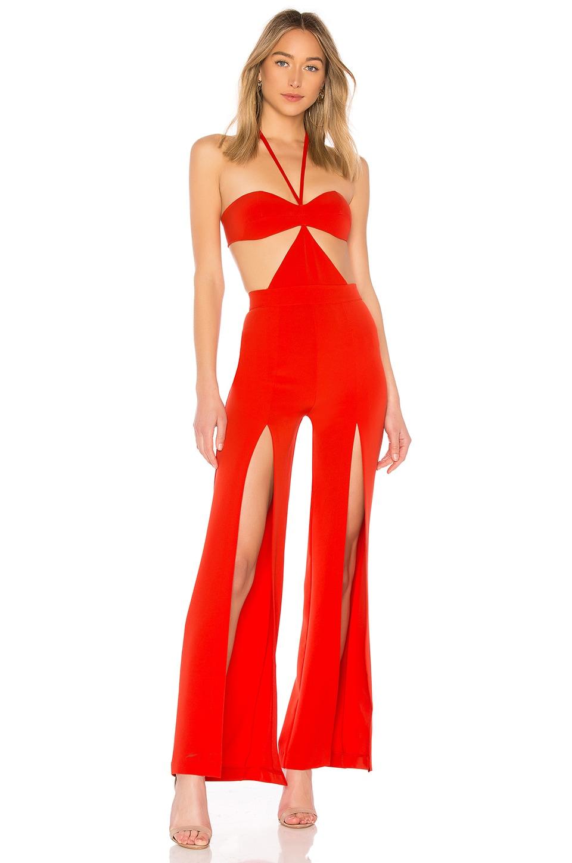 Michael Costello x REVOLVE Megan Jumpsuit in Red