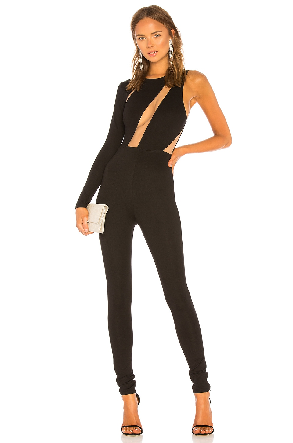 Michael Costello x REVOLVE Adelise Jumpsuit in Black