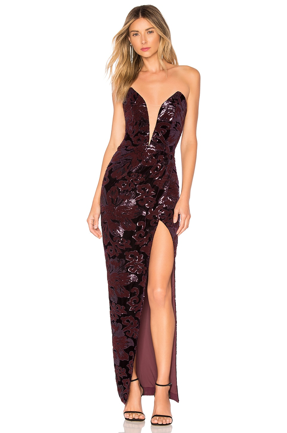 Michael Costello x REVOLVE Jake Gown in Purple Floral