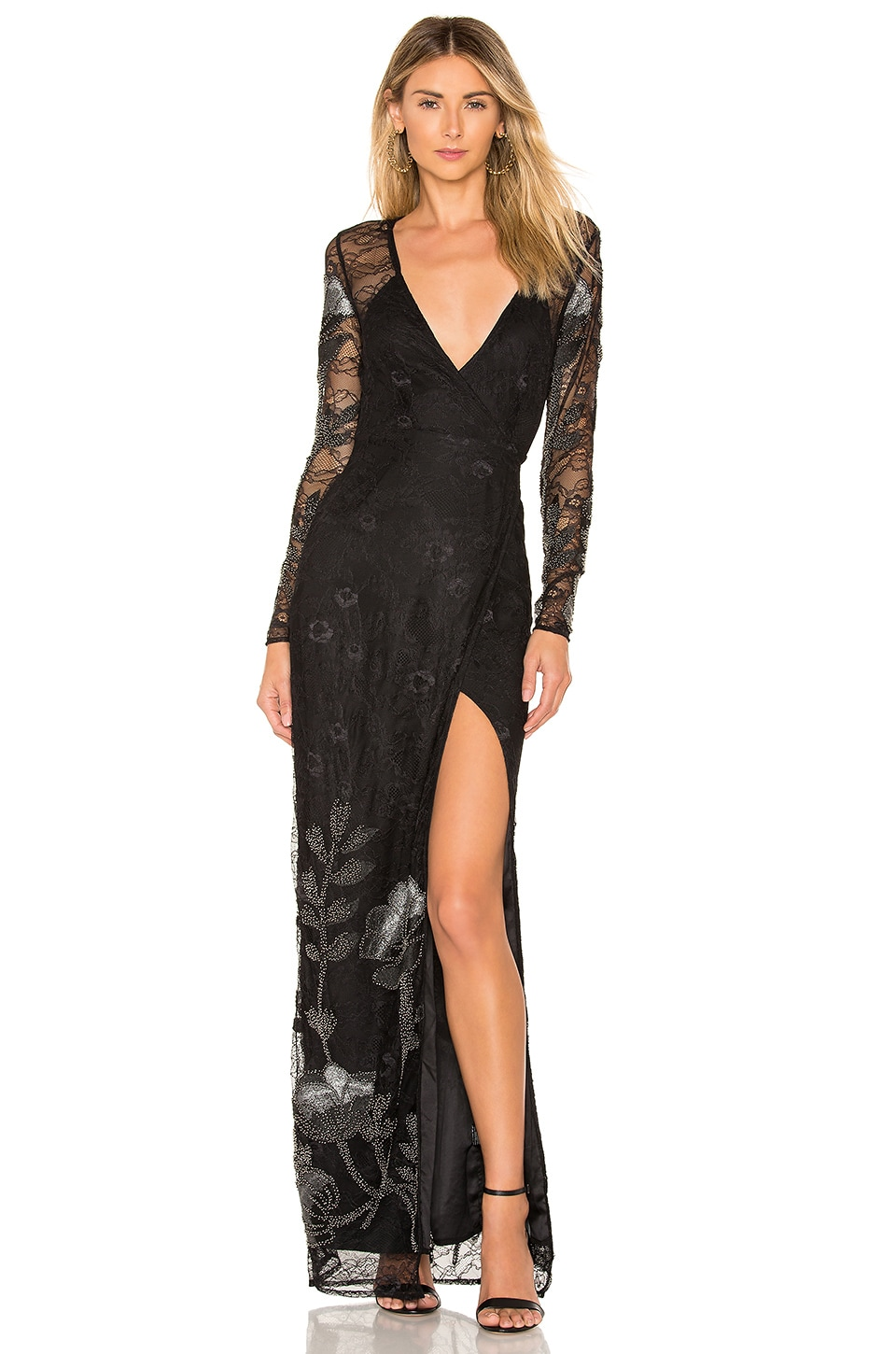 Michael Costello x REVOLVE Sonya Dress in Onyx