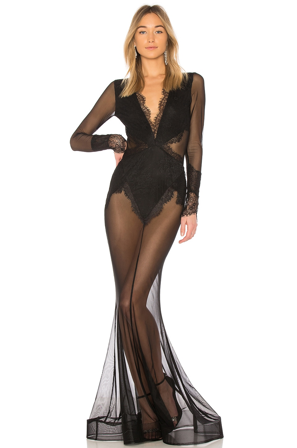 Michael Costello x REVOLVE Martin Gown in Black