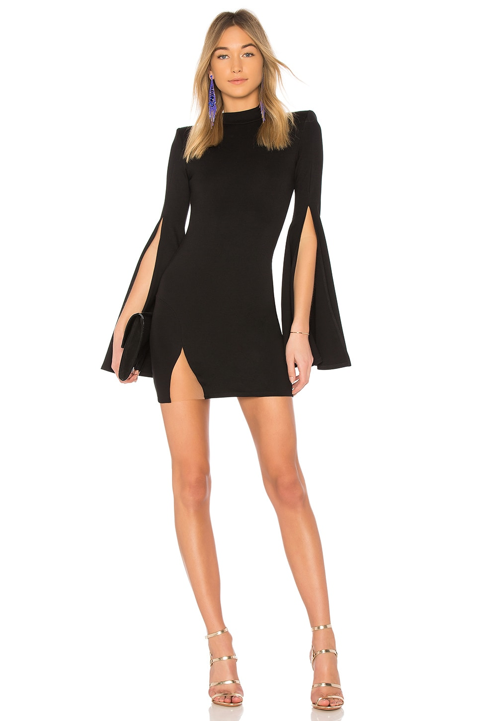 Michael Costello x REVOLVE Mr. Gibson Mini Dress in Black