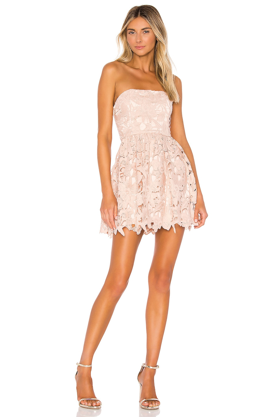 Michael Costello x REVOLVE Tate Dress in Blush