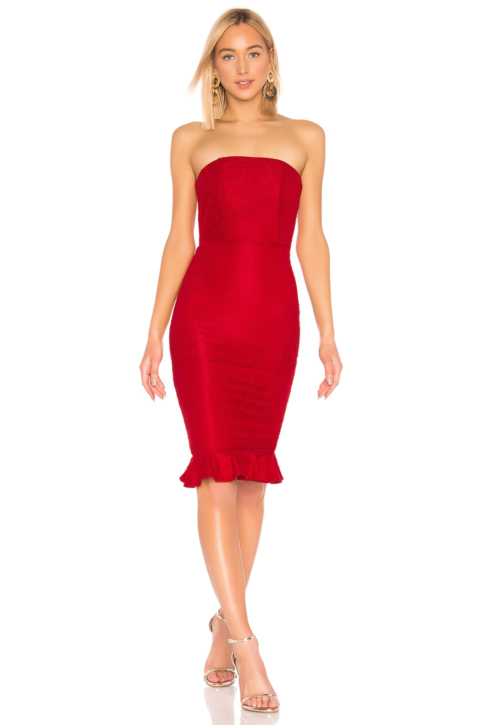Michael Costello X REVOLVE Ericka Dress in Red