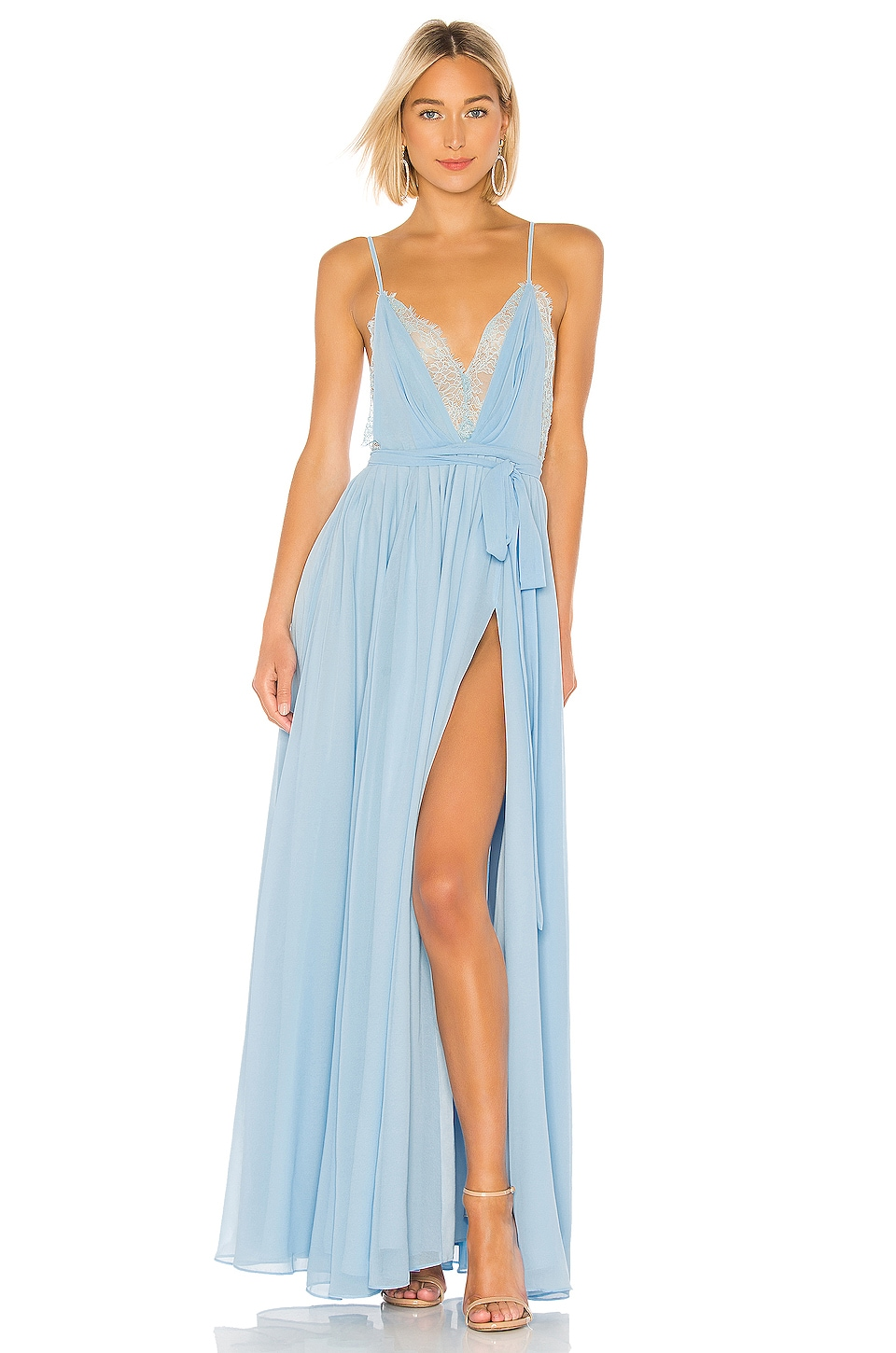 Michael Costello x REVOLVE Justin Gown in Light Blue