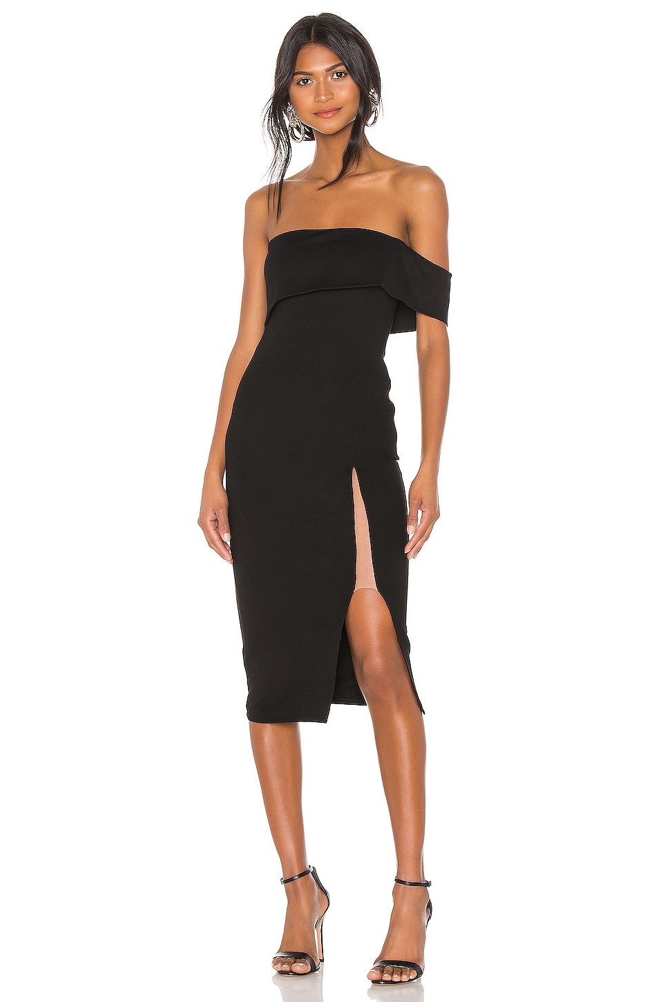 Michael Costello x REVOLVE Audrey Dress in Black