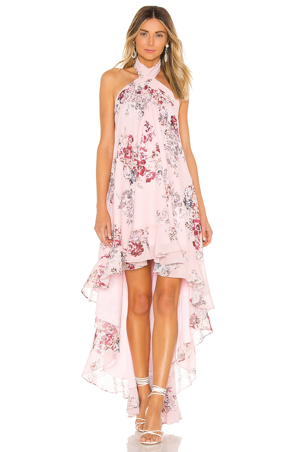 Michael Costello X Revolve Conrad Dress In Pink Floral Revolve Haul of pretty dresses, january sale finds, shoes, bikinis and more! michael costello