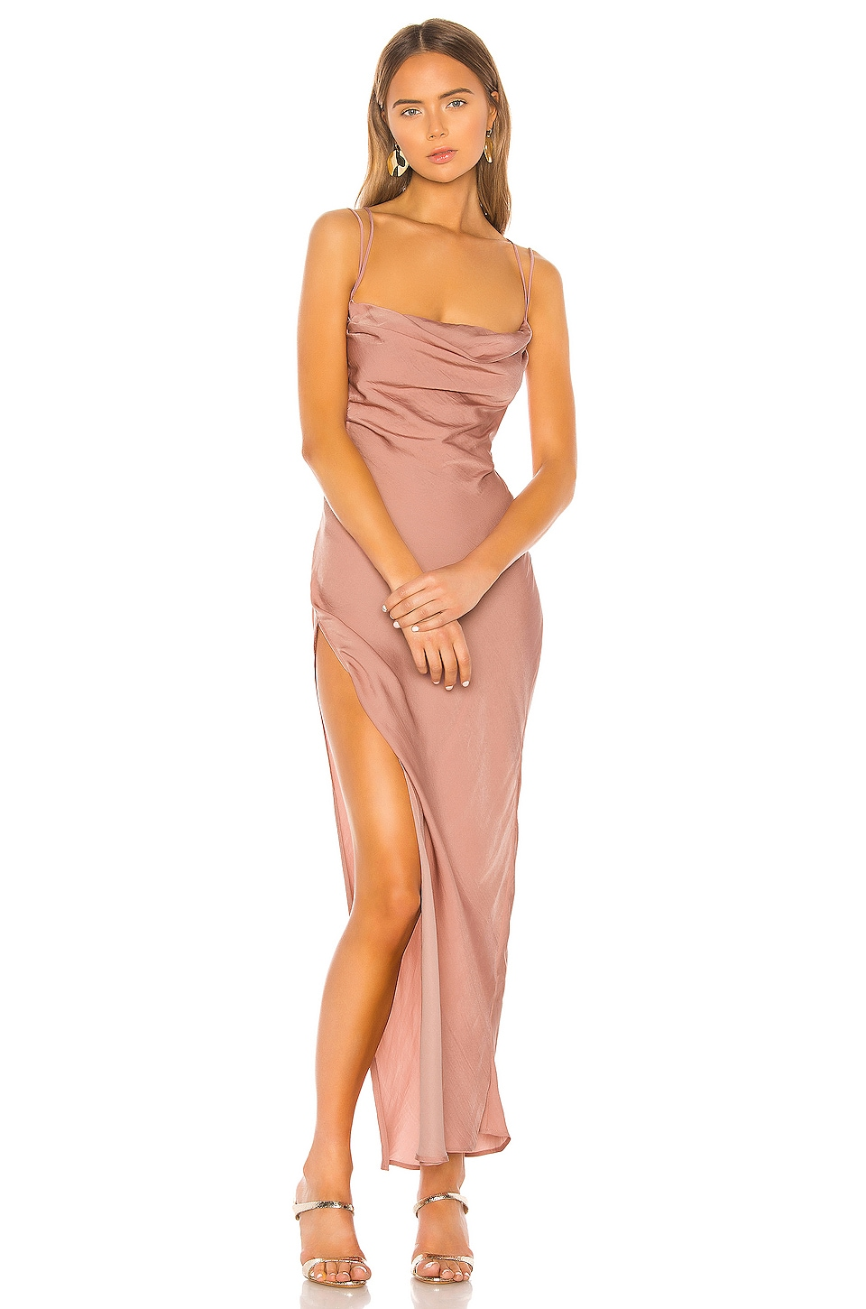 Michael Costello x REVOLVE Braxton Dress in Rose