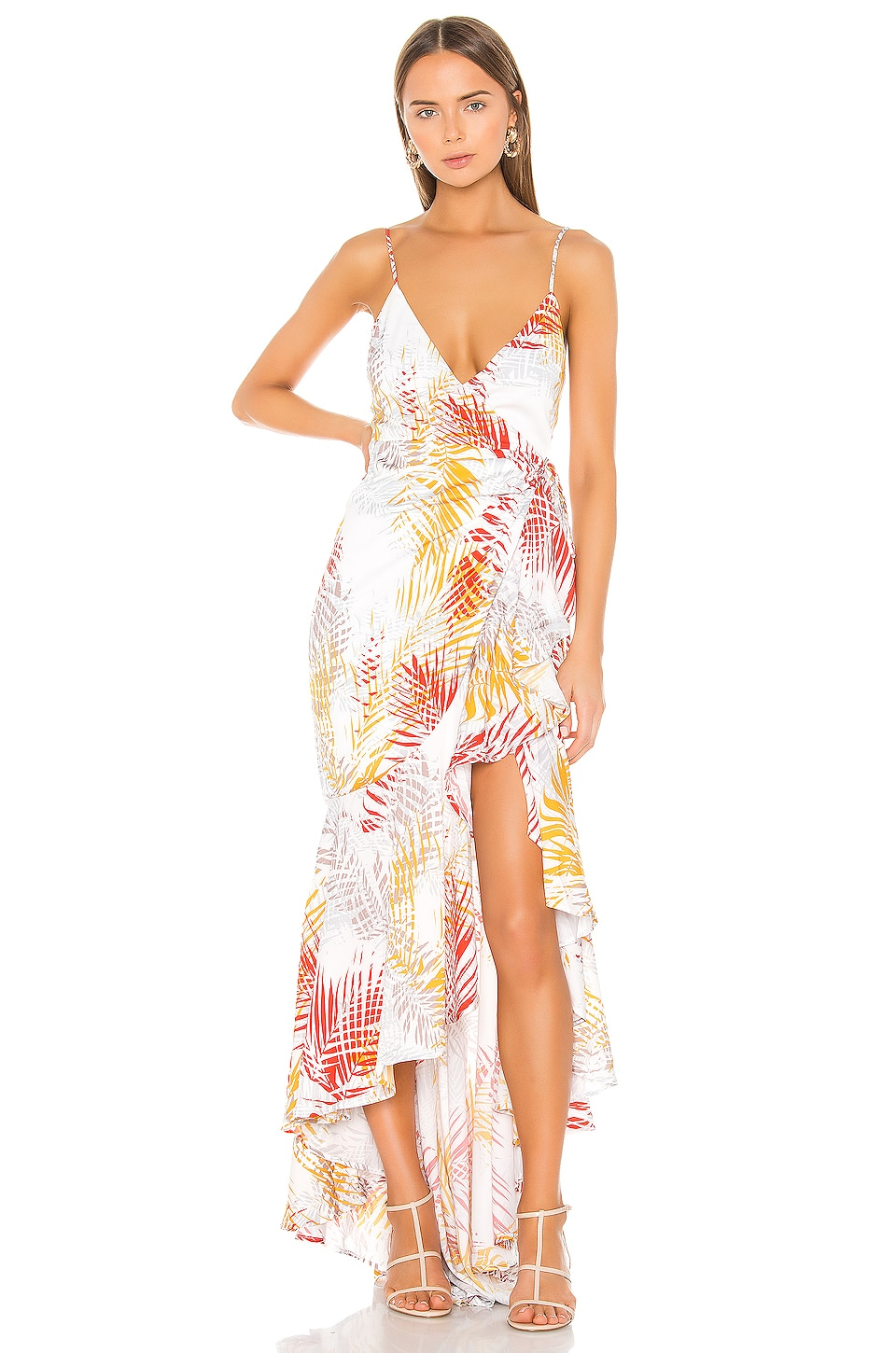 Michael Costello x REVOLVE Atienne Dress in Tropical Palm