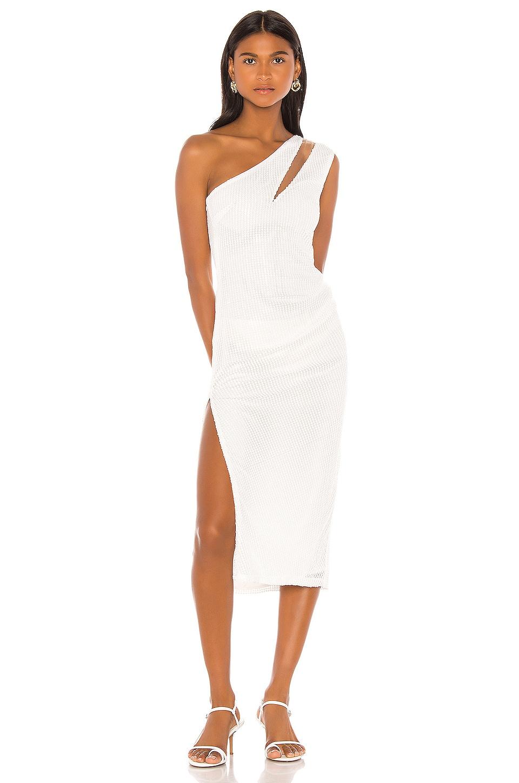 Michael Costello x REVOLVE Ryley Midi Dress in White