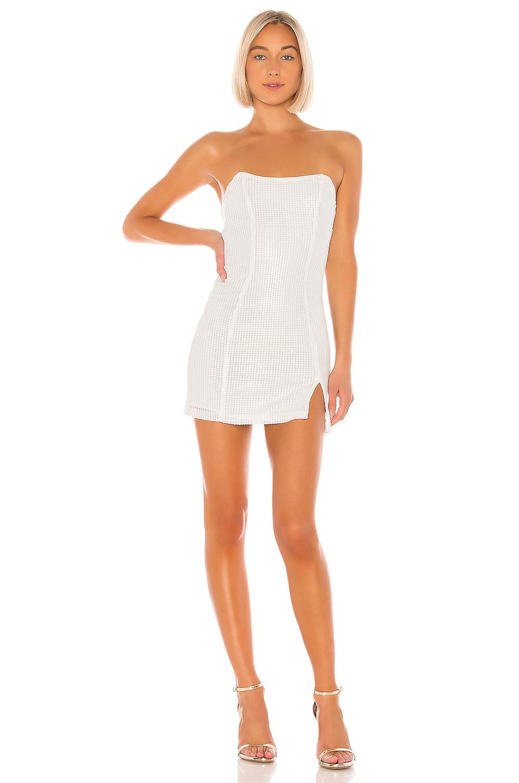 Michael Costello x REVOLVE Reid Mini Dress in White