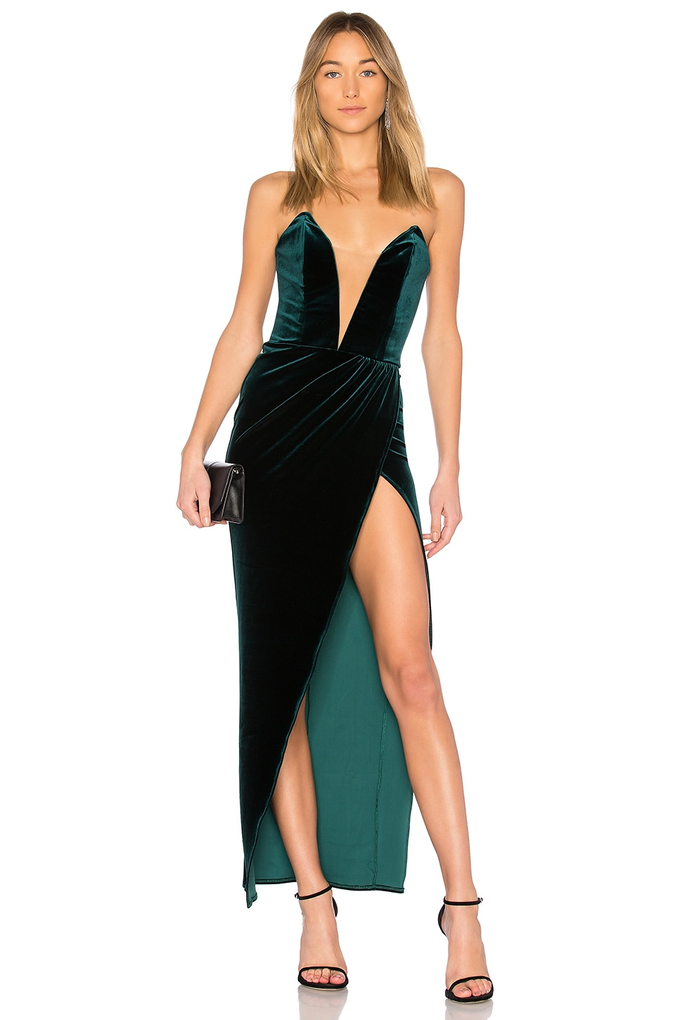 Michael Costello x REVOLVE Jake Gown in Emerald