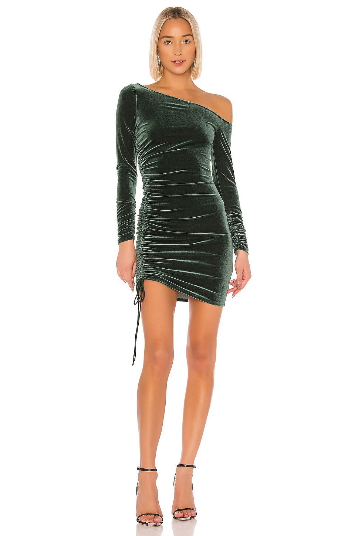 Michael Costello x REVOLVE Gennah Mini Dress in Emerald Green