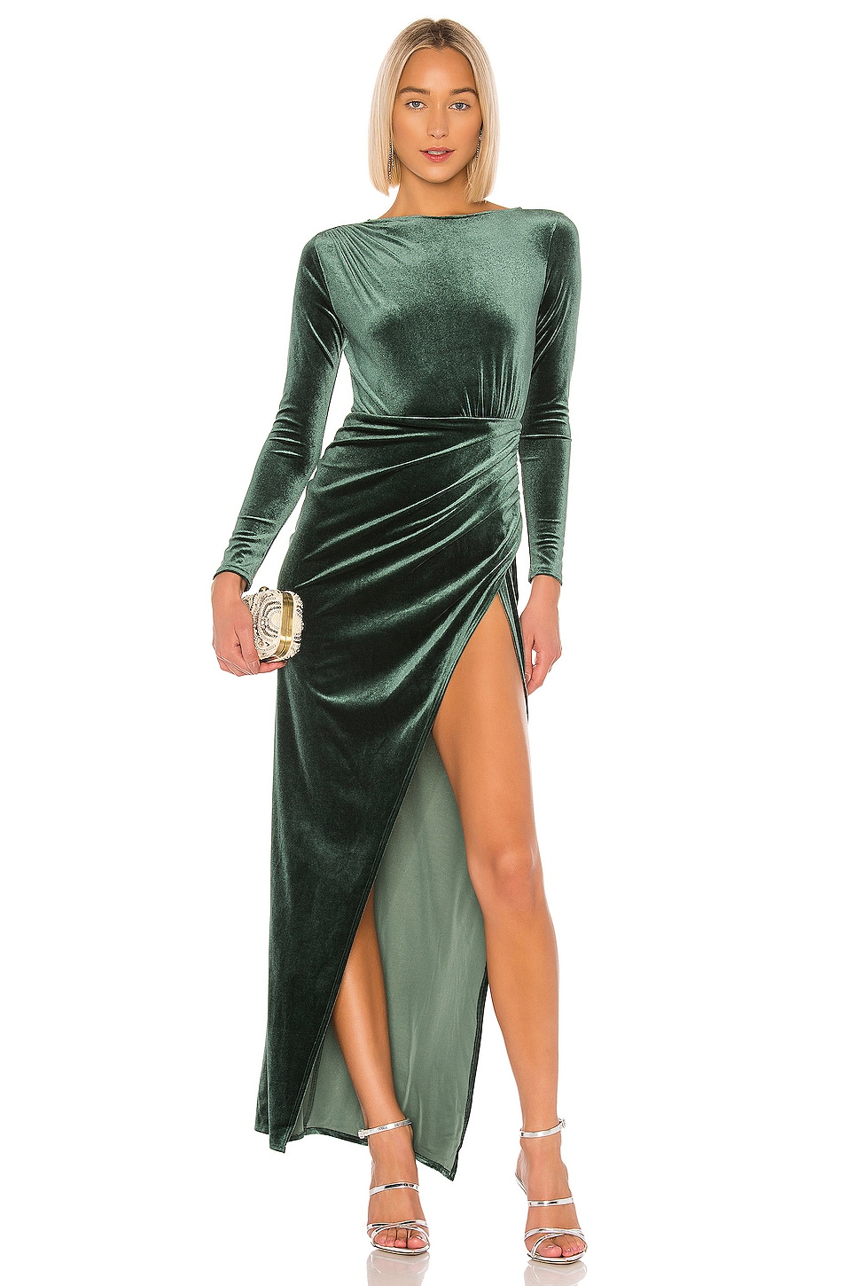 Michael Costello x REVOLVE Gregory Gown in Emerald Green