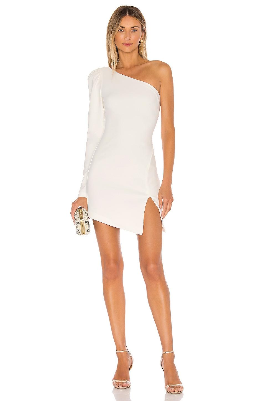 Michael Costello x REVOLVE Fabian Mini Dress in Ivory