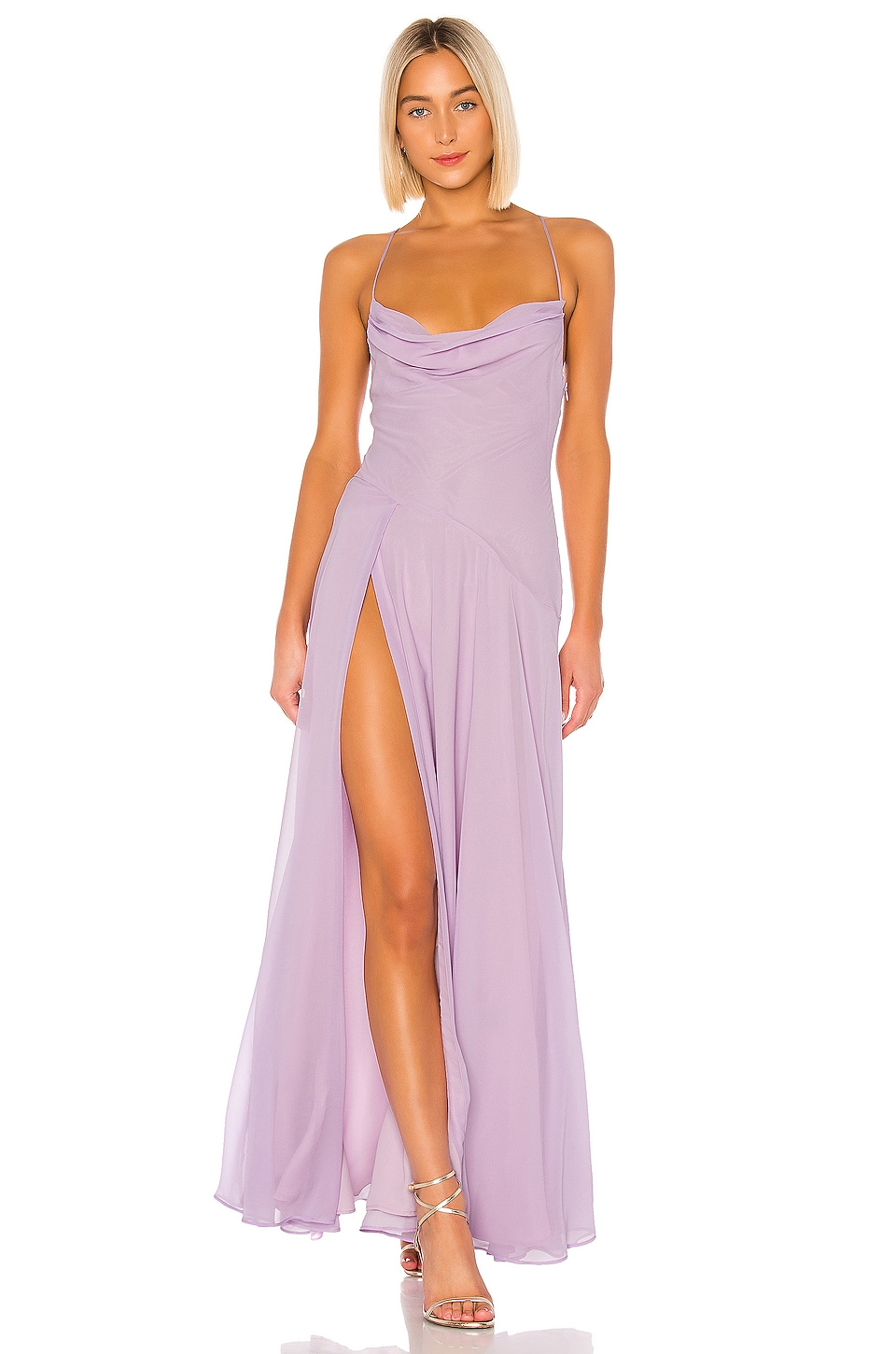 Michael Costello x REVOLVE Jenna Gown in Lilac