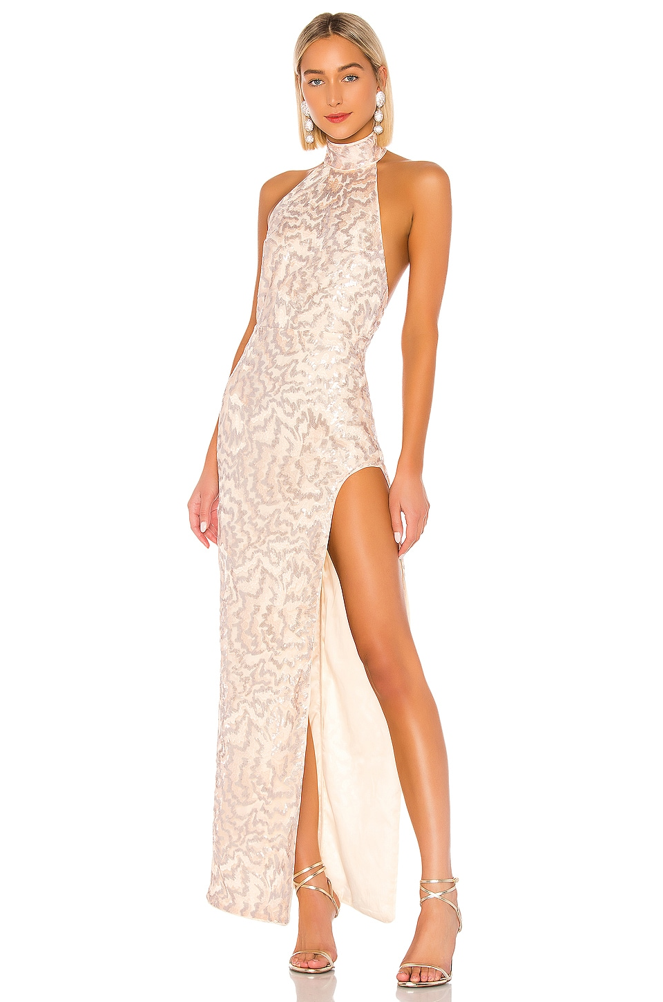 Michael Costello x REVOLVE Penelope Gown in Light Pink