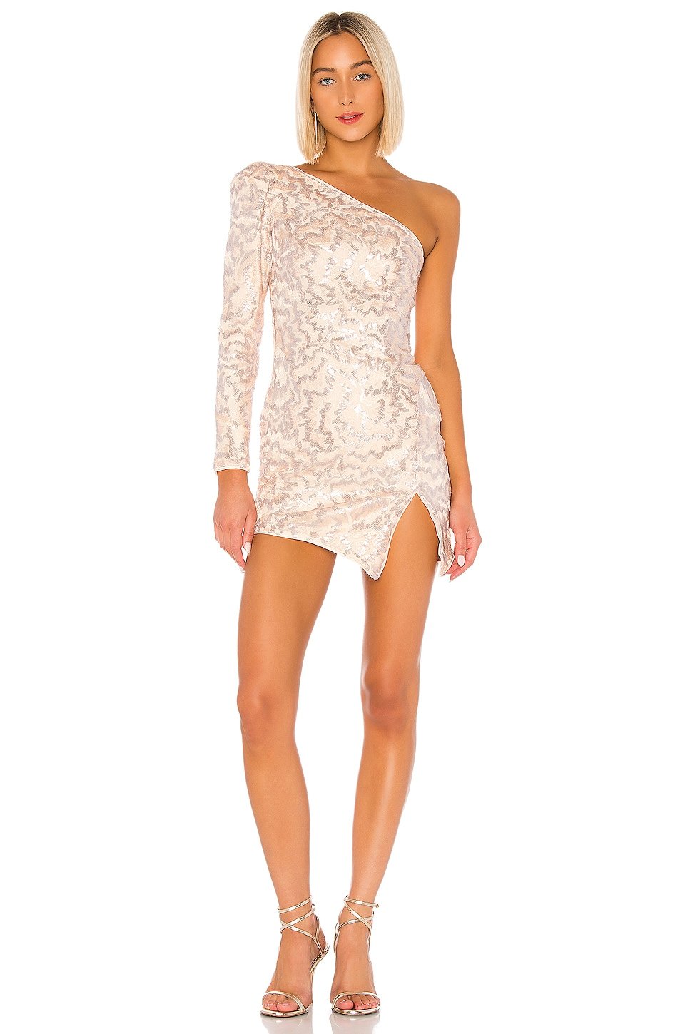Michael Costello x REVOLVE Fabian Mini Dress in Light Pink