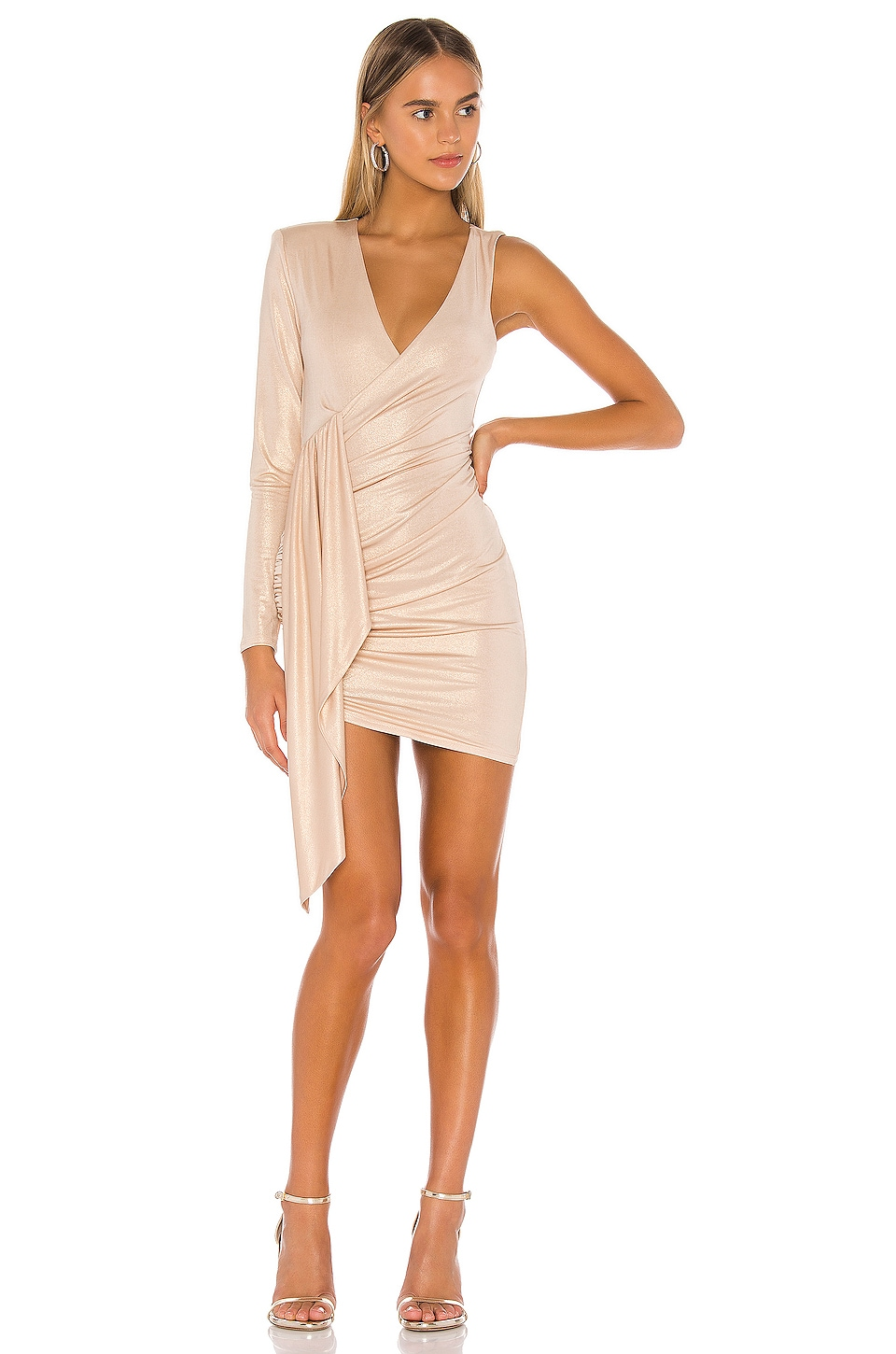Michael Costello x REVOLVE Leona Mini Dress in Champagne