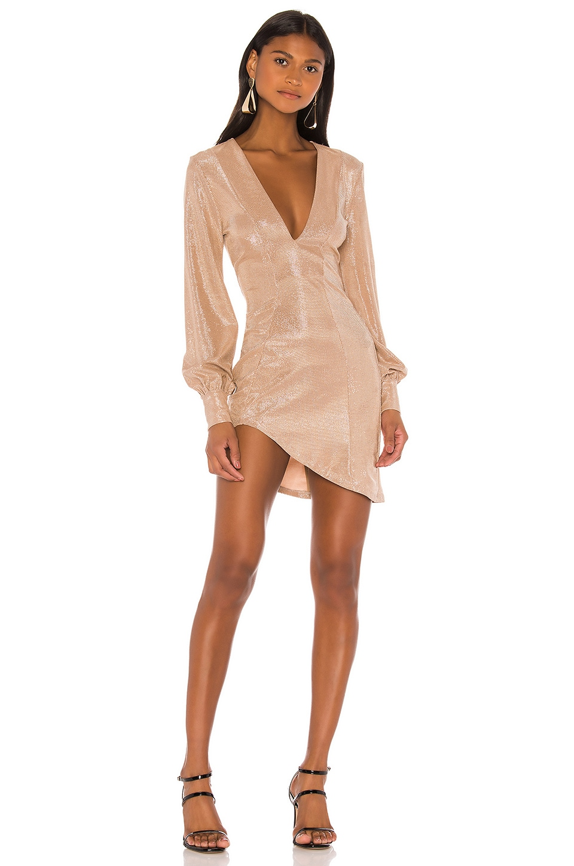 Michael Costello x REVOLVE Lily Mini Dress in Light Pink