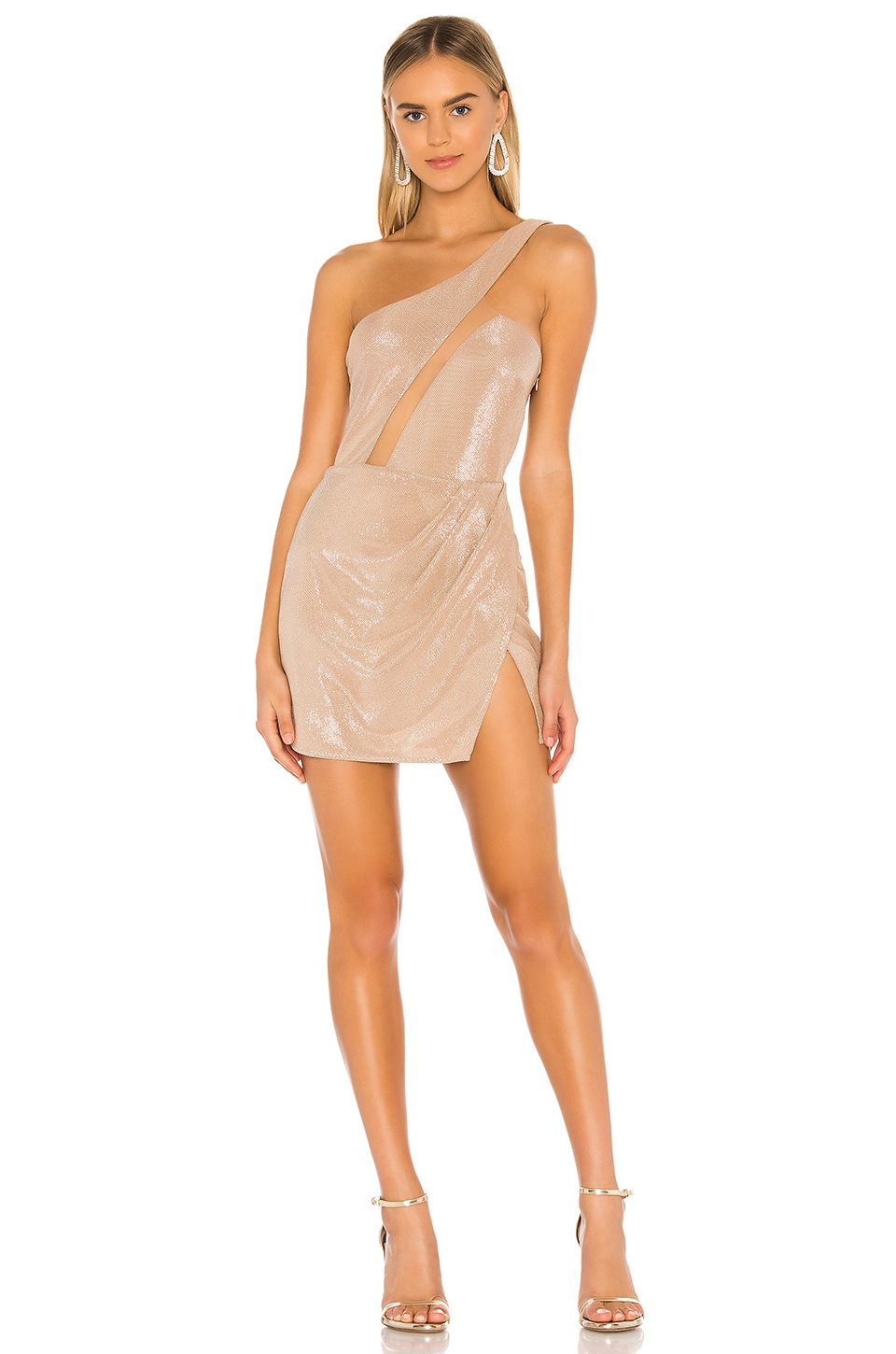 Michael Costello x REVOLVE Linden Mini Dress in Light Pink