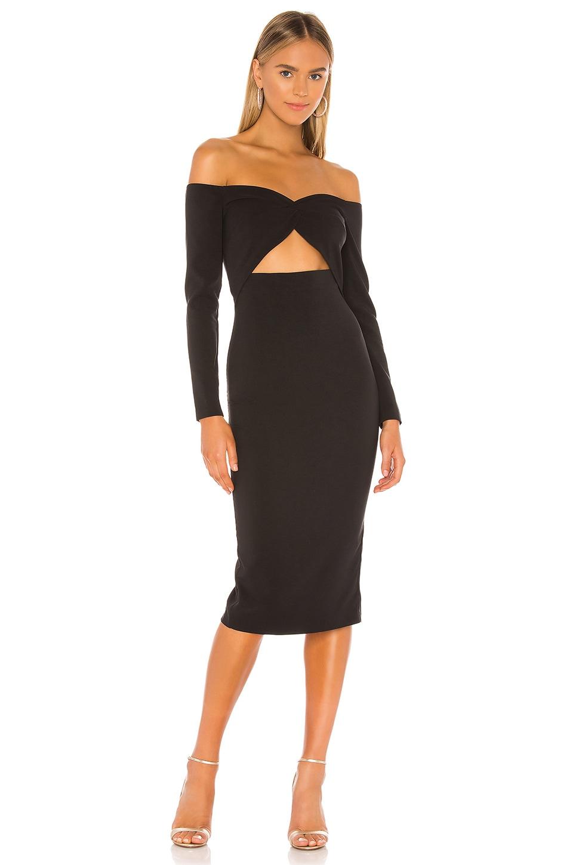 Michael Costello x REVOLVE Howie Midi Dress in Black