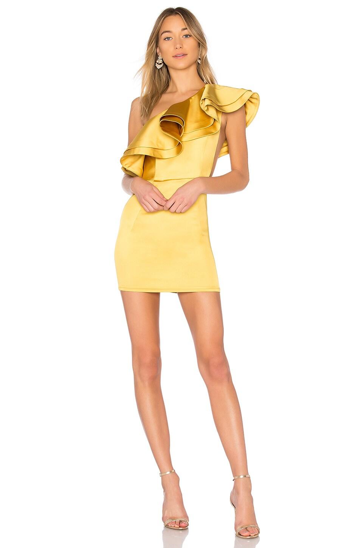 Michael Costello x REVOLVE Joey Mini Dress in Yellow