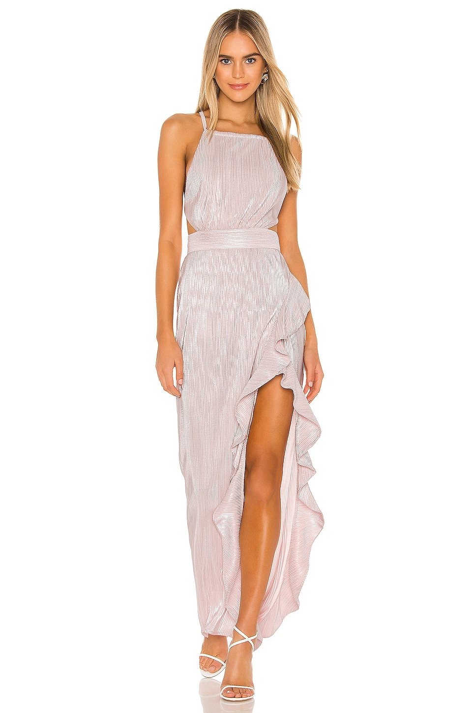Michael Costello x REVOLVE Henrik Gown in Light Pink