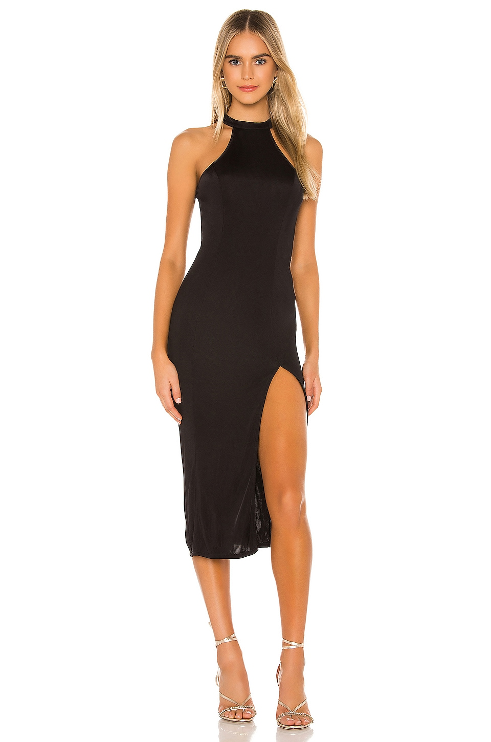 Michael Costello x REVOLVE Lucy Midi Dress in Black