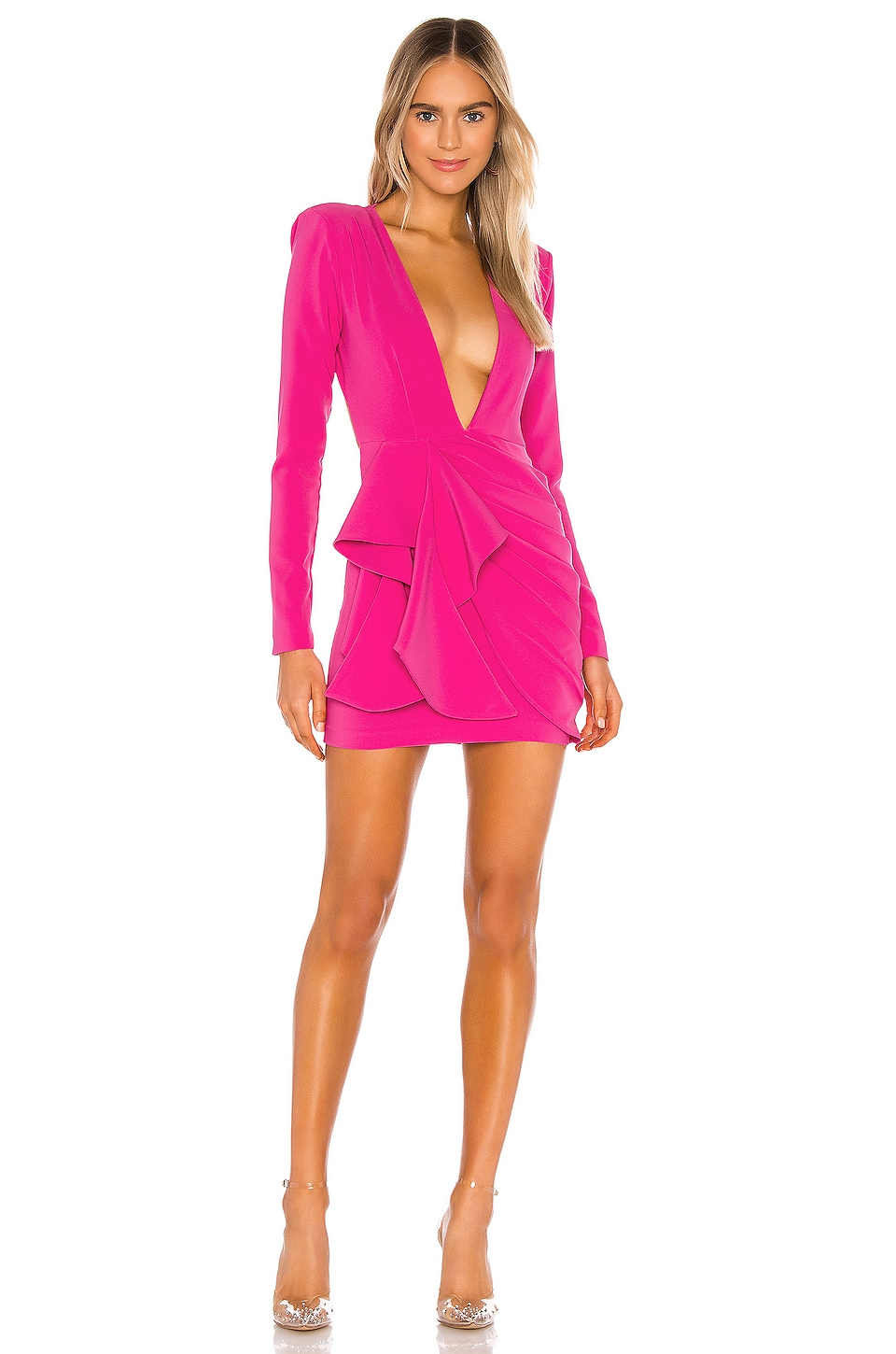 Michael Costello X Revolve Fena Mini Dress In Fuchsia Revolve Check our latest styles of leather such as dresses at revolve free shipping for orders above $100 usd. michael costello
