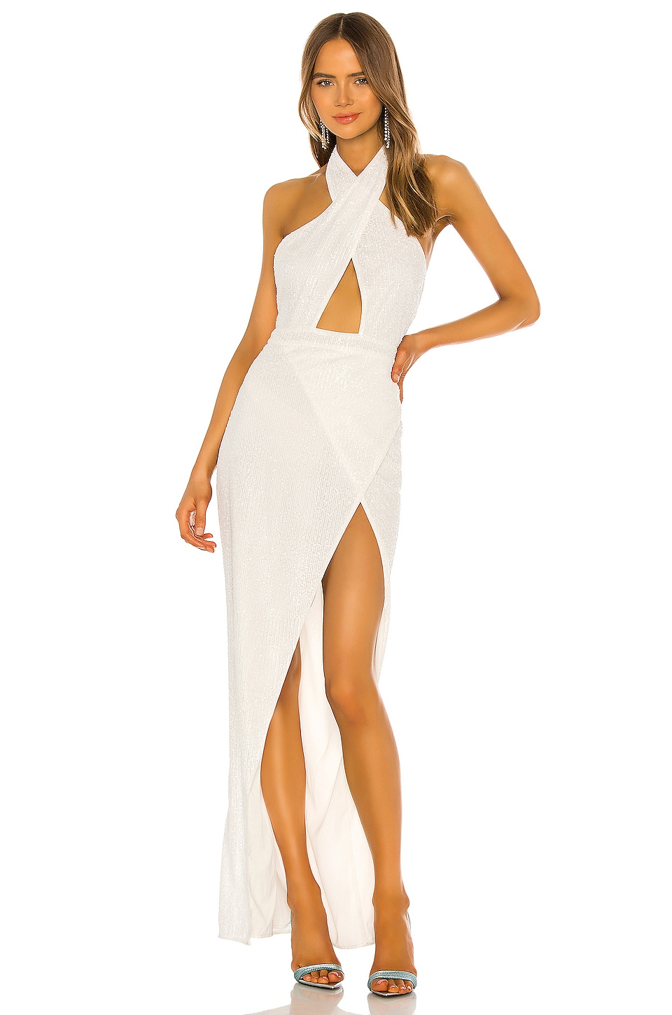 Michael Costello x REVOLVE Soraya Gown in White