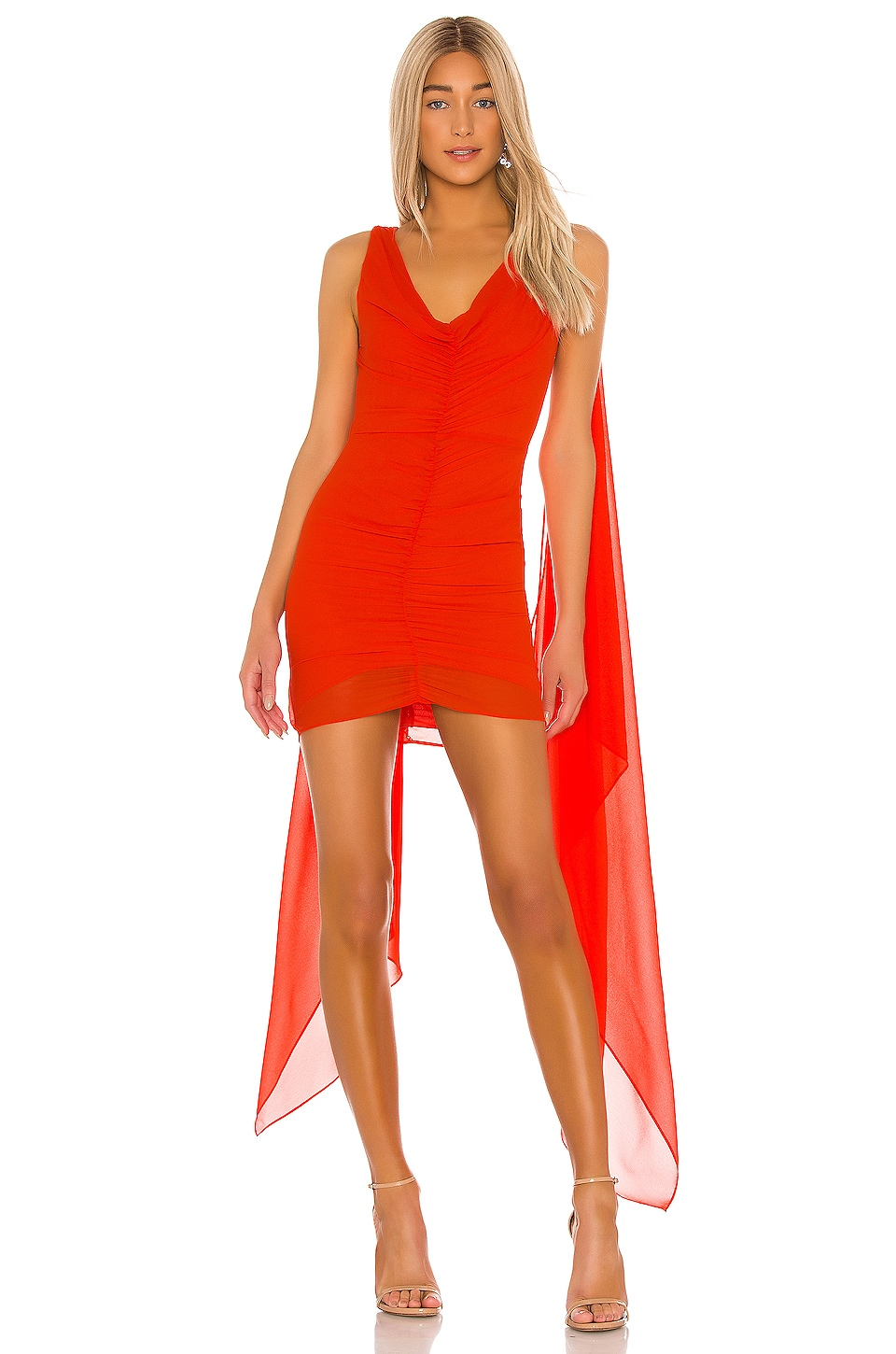 Michael Costello X Revolve Vavonna Mini Dress In Red Orange Revolve Revolve reserves the right to end or modify this promotion. michael costello
