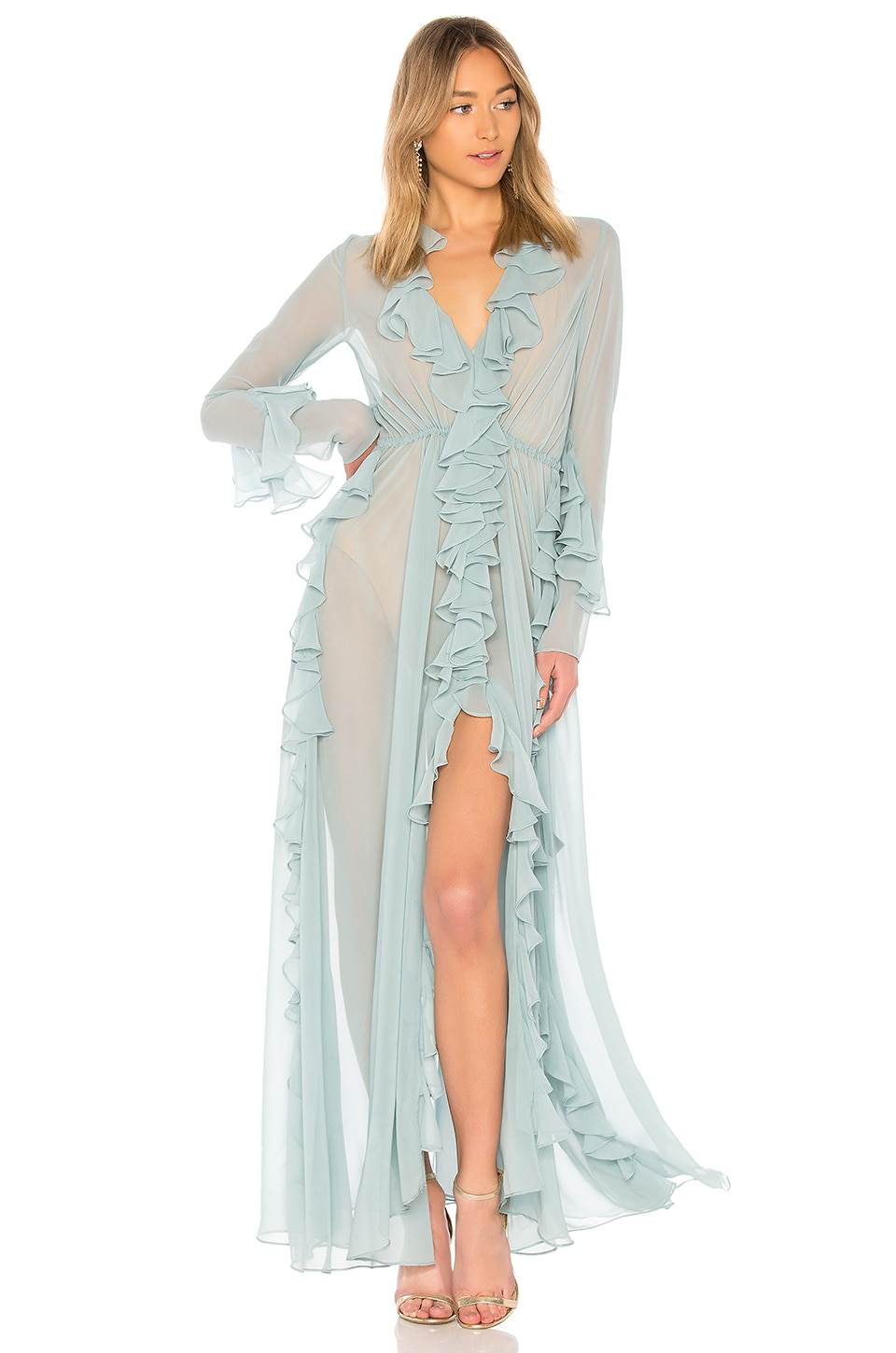 x REVOLVE Analeigh Dress in Sage. - size M (also in S,XS) Michael Costello