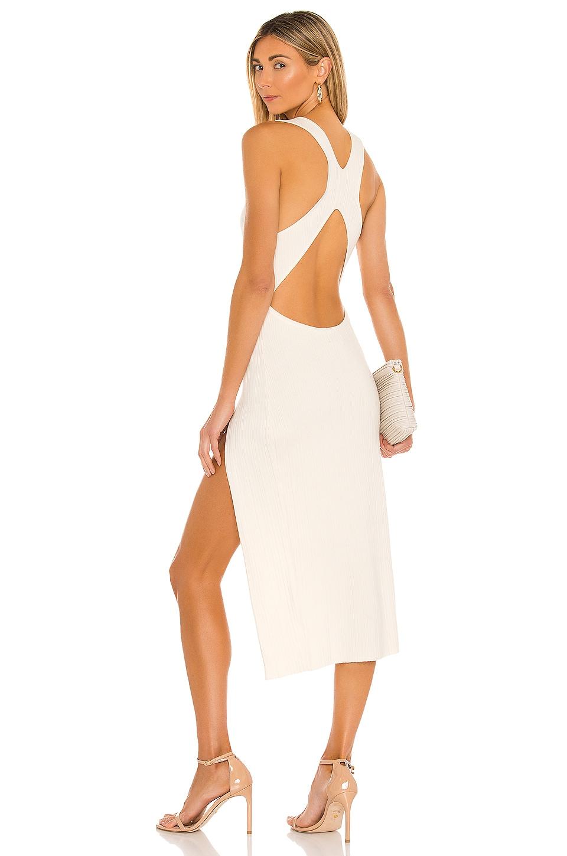 Michael Costello x REVOLVE Variegated Rib Bodycon Dress in Ivory