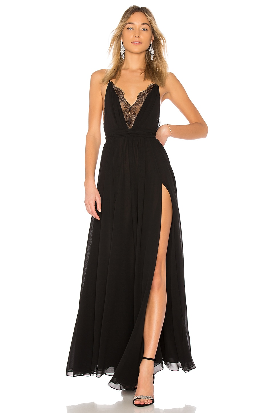 Michael Costello x REVOLVE Justin Gown in Black | REVOLVE
